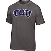 Champion Men's TCU Horned Frogs Grey Big Logo T-Shirt