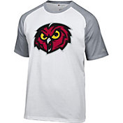 Champion Men's Temple Owls White Big Logo T-Shirt