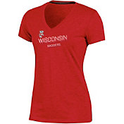 Champion Women's Wisconsin Badgers Red Success V-Neck T-Shirt