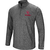 Colosseum Men's Oklahoma Sooners Grey Action Pass Quarter-Zip Shirt