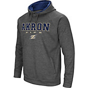 Colosseum Men's Akron Zips Grey Fleece Hoodie
