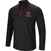 Colosseum Athletics Men's Louisiana-Lafayette Ragin' Cajuns Action Pass Quarter-Zip Black Shirt