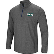 Colosseum Men's UNC-Wilmington  Seahawks Grey Action Pass Quarter-Zip Shirt