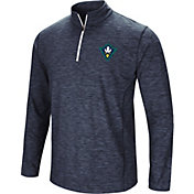 Colosseum Athletics Men's UNC-Wilmington  Seahawks Navy Action Pass Quarter-Zip Shirt