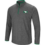 Colosseum Athletics Men's North Dakota Fighting Hawks Green Action Pass Quarter-Zip Shirt