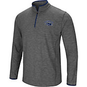 Colosseum Men's Nevada Wolf Pack Grey Action Pass Quarter-Zip Shirt