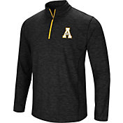Colosseum Athletics Men's Appalachian State Mountaineers Action Pass Quarter-Zip Black Shirt