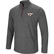 Colosseum Men's Virginia Tech Hokies Grey Action Pass Quarter-Zip Shirt