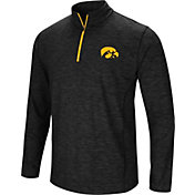 Colosseum Men's Iowa Hawkeyes Black Action Pass Quarter-Zip Shirt
