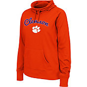 Colosseum Women's Clemson Tigers Orange Funnel Neck Fleece Pullover