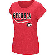 Colosseum Athletics Women's Georgia Bulldogs Red Speckled Yarn T-Shirt