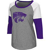 Colosseum Women's Kansas State Wildcats Grey Raglan T-Shirt