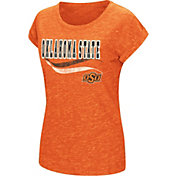Colosseum Women's Oklahoma State Cowboys Orange Speckled Yarn T-Shirt
