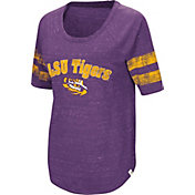 Colosseum Women's LSU Tigers Purple Bean Babbitt Raglan T-Shirt
