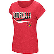 Colosseum Athletics Women's Louisville Cardinals Cardinal Red Speckled Yarn T-Shirt