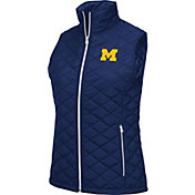 Colosseum Women's Michigan Wolverines Blue Elite Quilted Full-Zip Vest