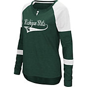 Colosseum Women's Michigan State Spartans Green Routine Raglan Long Sleeve T-Shirt