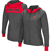 Colosseum Women's Maryland Terrapins Charcoal Backside Hooded Jacket