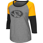 Colosseum Women's Missouri Tigers Grey Raglan T-Shirt