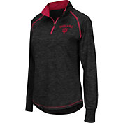 Colosseum Women's Indiana Hoosiers Black Bikram Quarter-Zip Top