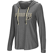 Colosseum Women's Purdue Boilermakers Grey Podium Featherweight Hoodie