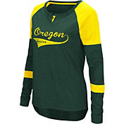 Colosseum Women's Oregon Ducks Green Routine Raglan Long Sleeve T-Shirt