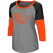Colosseum Women's Oregon State Beavers Grey Raglan T-Shirt