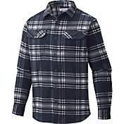 Columbia Men's Penn State Nittany Lions Blue Plaid Flare Gun Flannel Long Sleeve Shirt