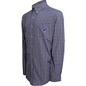 Campus Specialties Men's Kansas State Wildcats Purple Multi-Checkered Woven Long Sleeve Shirt