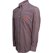 Campus Specialties Men's Iowa State Cyclones Multi-Checkered Woven Long Sleeve Shirt