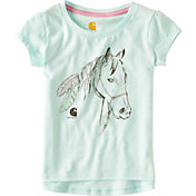 Carhartt Toddler Girls' Feathered Horse Short Sleeve T-Shirt