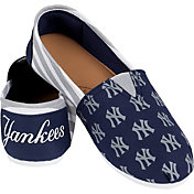 Forever Collectibles New York Yankees Striped Canvas Shoes