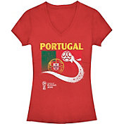 Fifth Sun Women's FIFA 2018 World Cup Russia Portugal Trophy Logo Red T-Shirt