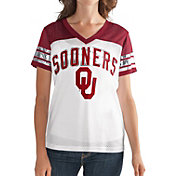 G-III For Her Women's Oklahoma Sooners White/Crimson Free Agent V-Neck T-Shirt