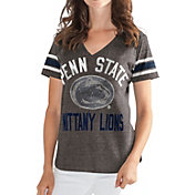 G-III For Her Women's Penn State Nittany Lions Grey In the Finals V-Neck T-Shirt