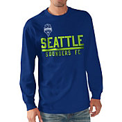 G-III Men's Seattle Sounders Logo Royal Long Sleeve T-Shirt