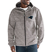 G-III Men's Carolina Panthers Expedition Soft Shell Grey Full-Zip Jacket