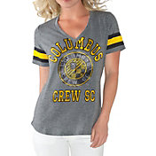 G-III For Her Women's Columbus Crew Triple Play Grey T-Shirt