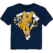 Gen2 Toddler Girls' West Virginia Mountaineers Blue Cheerleader Dreams T-Shirt