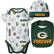 Gerber Infant Green Bay Packers Cap/Bib Onesie Set