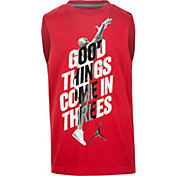 Jordan Boys' Good Things Come In 3's Muscle Sleeveless Shirt