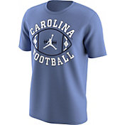 Jordan Men's North Carolina Tar Heels Carolina Blue 'Carolina Football' T-Shirt