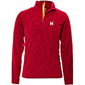 Levelwear Men's Maryland Terrapins Red Mobility Long Sleeve Quarter-Zip Shirt