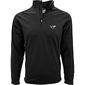 Levelwear Men's Virginia Tech Hokies Black Metro Quarter-Zip Pullover