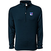 Levelwear Men's New York Rangers Pacer Navy Quarter-Zip Shirt