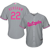 Majestic Men's Replica Los Angeles Dodgers Clayton Kershaw #22 2017 Mother's Day Cool Base Jersey