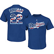 Majestic Men's Los Angeles Dodgers Clayton Kershaw #22 Royal Americana T-Shirt