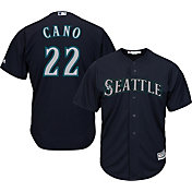 Majestic Men's Replica Seattle Mariners Robinson Cano #22 Cool Base Alternate Navy Jersey