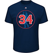 Majestic Men's Boston Red Sox David Ortiz #34 Jersey Retirement Logo Navy T-Shirt