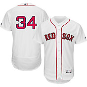 Majestic Men's Authentic Boston Red Sox David Ortiz #34 Flex Base Home White On-Field Jersey